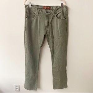 Arizona Slim Straight Olive Jeans 34/32